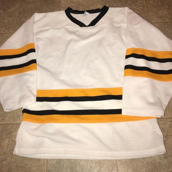 9a3edf507 athletic knit Shirts | Vintage Blackyellowwhite Hockey Jersey | Poshmark